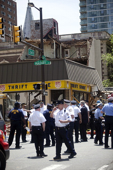 Site of Philadelphia building collapse
