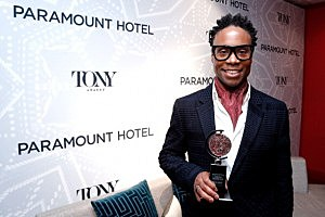 Actor Billy Porter, winner of Best Performance by an Actor in a Leading Role in a Musical poses at The 67th Annual Tony Awards