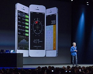 Apple's Craig Federighi, Vice President of Software Engineering, introduces iOS7 at a keynote address during the 2013 Apple WWDC