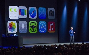 Apple's Craig Federighi, Vice President of Software Engineering, introduces iOS7