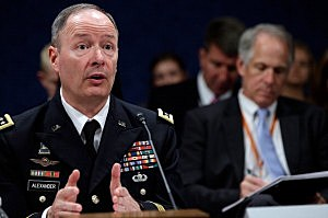 : General Keith Alexander, Director of the National Security Agency, testifies before the House Select Intelligence Committee