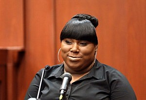 Witness Rachel Jeantel gives her testimony  during George Zimmerman's trial