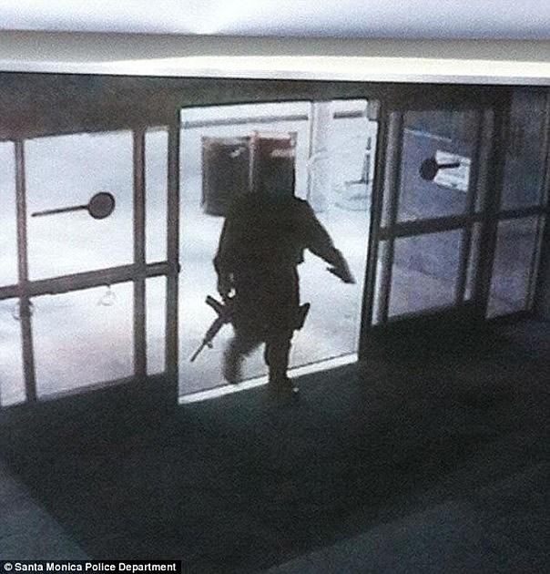 John Zawahri enters Santa Monica College library
