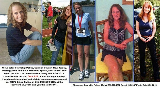 Pictures added to missing person poster for Carol Reff