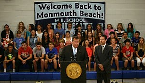 Governor Christie visits Monmouth Beach School