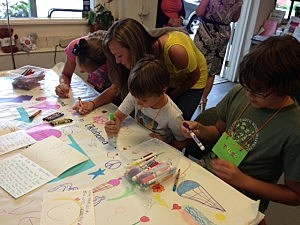 Children affected by Superstorm Sandy send messages of hope to Oklahoma tornado victims