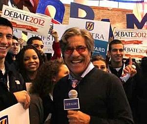 Geraldo Rivera at presidential debate at Hofstra University