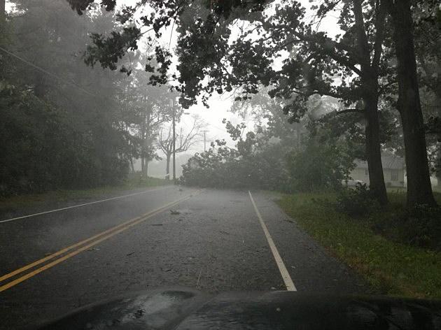 Thunderstorm damage in Gibbstown