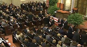 Mourners arrive for Frank Lautenberg funeral