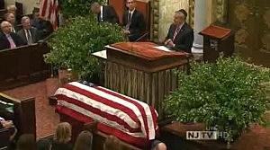 Senator Bob Menendez eulogizes Frank Lautenberg