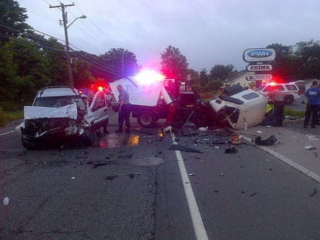 Accident on Route 9 at Silverton Road in Toms River