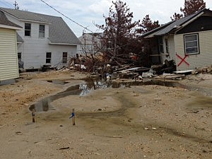 Sandy destruction in South Mantoloking