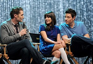 "Actors Matthew Morrison, Lea Michele and Cory Monteith appear at the ""GLEE"" 300th musical performance special taping"