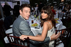 Cory Monteith(L) and Lea Michele