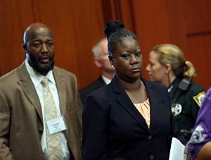 Trayvon Martin's parents Tracy Martin, left, and Sybrina Fulton
