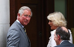 Prince Charles, Prince of Wales and Camilla, Duchess of Cornwall arrive at The Lindo Wing