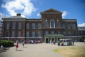 General view of Kensington Palace, residence of Prince William, Duke of Cambridge and Catherine, Duchess of Cambridge