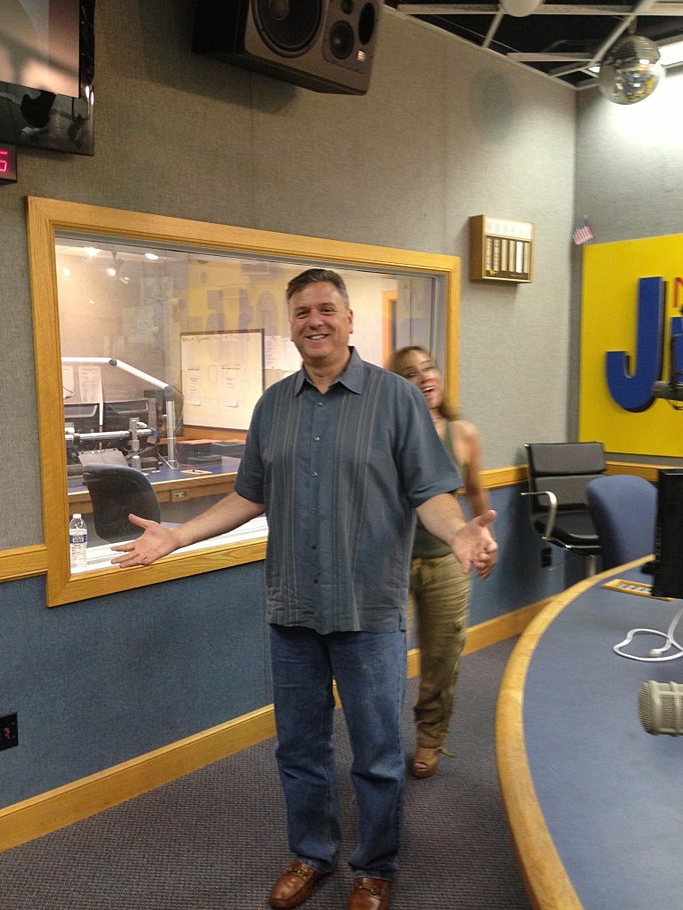 Judi Photobombs Weight Loss Photo of Brand Manager Eric Johnson