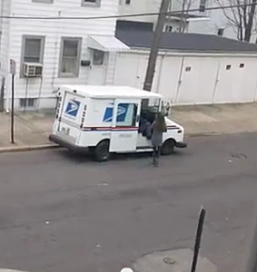 "a mailman making a very ""special"" delivery in Trenton. Youtube"