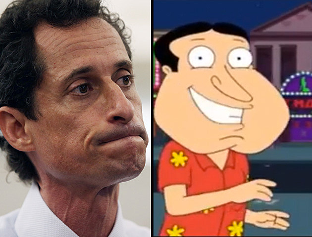 Who is Anthony Weiner's celebrity look-a-like?
