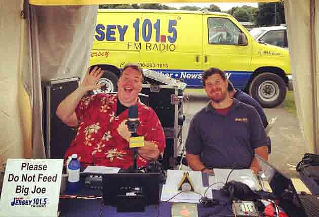 Big Joe Henry and producer Chris Eannucci at the Quick Chek New Jersey Festival of Ballooning!