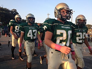 Brick Memorial takes the field for their game against Neptune (Townsquare Media NJ)