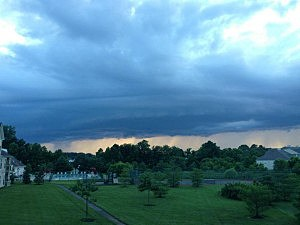Storm clouds over Gloucester County