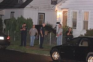 Police outside scene of shooting on Deutz Avenue in Hamilton