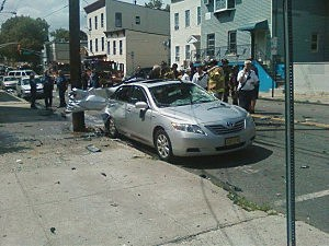 Car that exploded in Jersey City