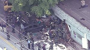 SUV after crashing into a Kansas City, Missouri daycare center