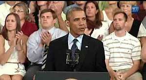 President Obama delivers economic policy speech at Knox College