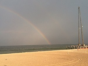 Rainbow over Seaside Heights