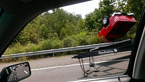 Accident on Route 18
