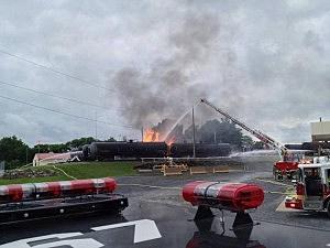 Train derailment in Lancaster County