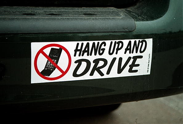 cell phone bumper sticker