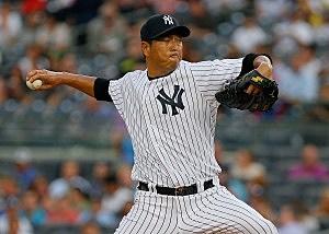 Hiroki Kuroda of the New York Yankees