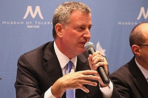 NYC Mayoral candidate Bill de Blasio