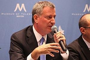 NYC Mayoral candidate Bill de Blasio