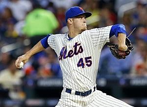 Pitcher Zack Wheeler #45 of the New York Mets
