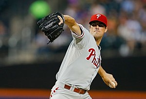 Cole Hamels #35 of the Philadelphia Phillies