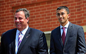 Gov. Chris Christie and Paymon Rouhanifard
