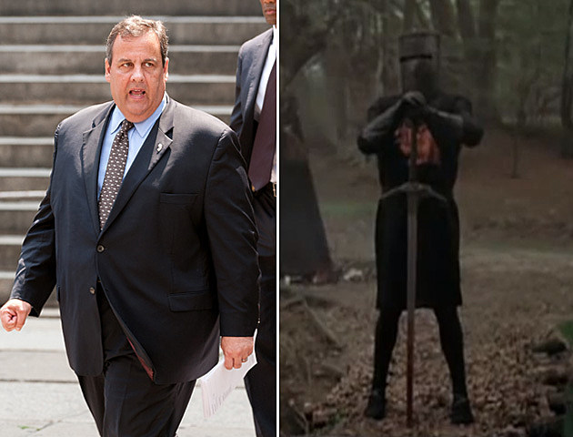 Governor Chris Christie and the Black Knight of Monty Python