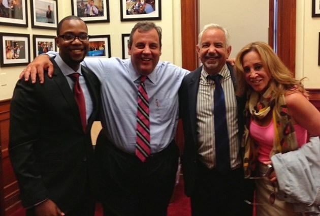Dennis Malloy Judi Franco and Producer Alex Dutton pose with Governor Christie