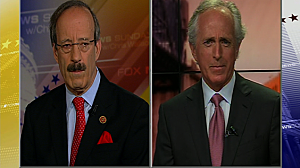 (L-R)  Rep. Eliot Engel (D) and Sen. Bob Corker on Fox New Sunday