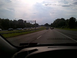 Traffic on 195 caused by earlier NJ Turnpike closure