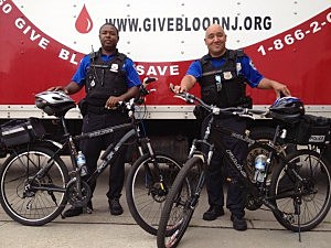 Two Trenton police officers at blood driver for injured officers