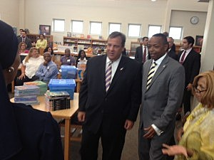 Governor Christie visits a Camden school