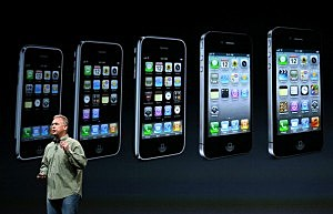 Apple Senior Vice President of Worldwide product marketing Phil Schiller announces the new iPhone 5 (Justin Sullivan/Getty Images)