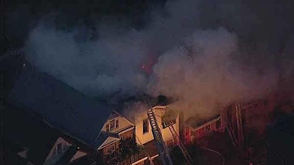 Fire on Bergen Avenue in Jersey City