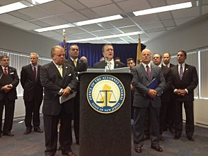 Acting Attorney General John Hoffman outlines a plan to curb gun violence in Trenton